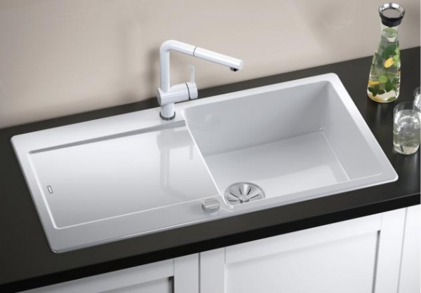 Blanco IDENTO XL 6 S 522129 Keramikspüle kristallweiß glänzend