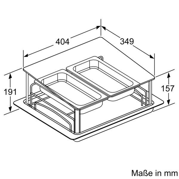 Siemens System-Dampfgarer HZ24D300