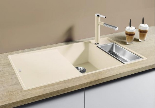 Blanco AXIA III 6 S-F 522162 Granitspüle cafe