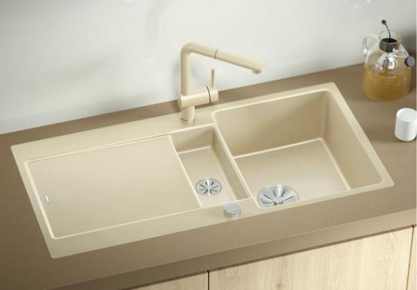 Blanco IDENTO 6 S-F 522276 Keramikspüle schwarz
