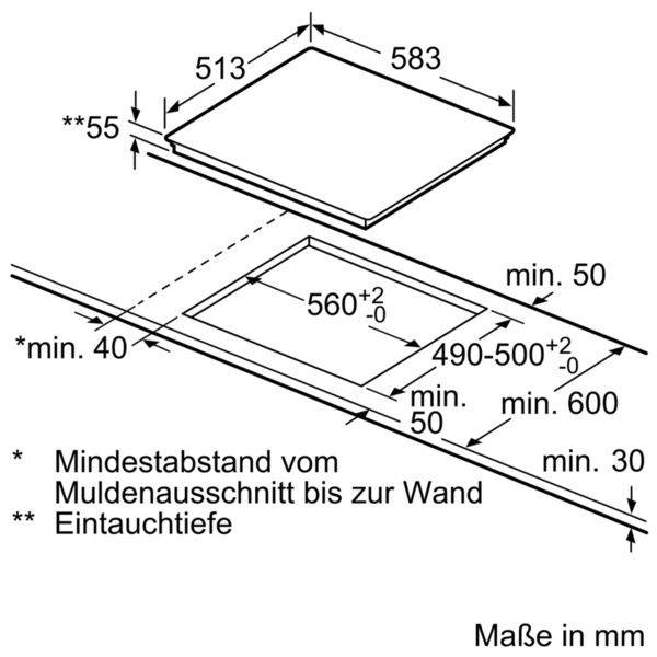 Bosch Induktions-Kochfeld NXX645CB1E 60 cm
