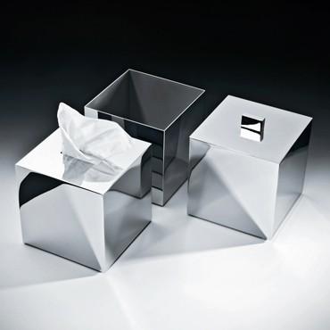 Decor Walter KB 83 Papiertuchbox - nickel satiniert - quadratisch