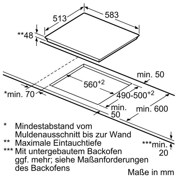 Siemens autarkes Kochfeld ET645HE17