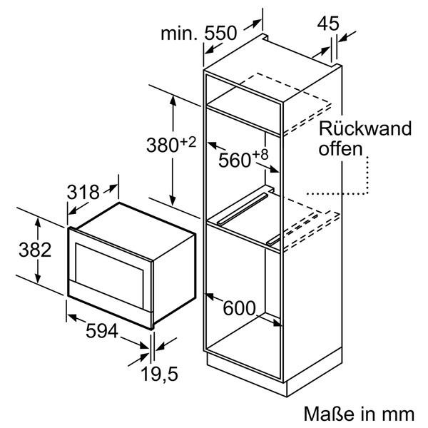 Siemens Einbau-Mikrowelle BF634LGW1 --Lager--