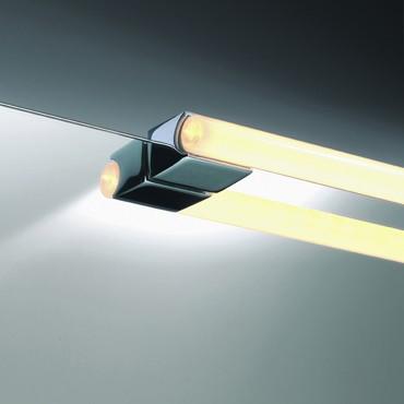 OMEGA 10 Spiegelaufsteckleuchte - chrom (1 Leuchte=2 Sockel)